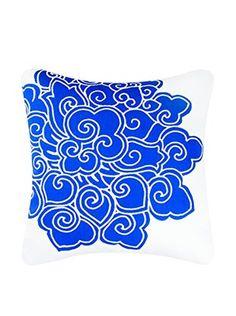 Davenport Canvas Pillow, Blue/White