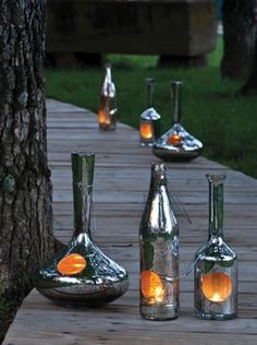 I absolutly love these bottles!  Perfect wine drinking lighting!