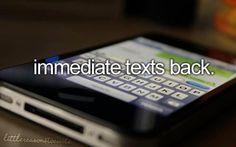 Immediate Text Backs, Little Reasons To Smile