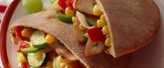 Dinner ready in 20 minutes! Enjoy these flavorful chicken and pita bread…