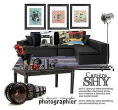 """""""Camera Shy"""" by frenchfriesblackmg ❤ liked on Polyvore featuring interior, interiors, interior design, home, home decor, interior decorating, ESPRIT, Fogarty, Graham & Brown and IdeaNuova"""