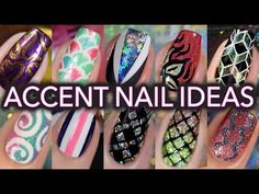 Easy accent nail art tutorials - compilation! - YouTube
