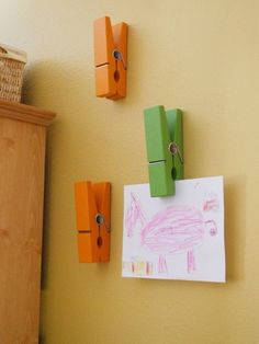 Great idea for playroom art and posters