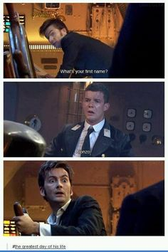 """Allons-y, Alonso!"" An awesome moment from 'Doctor Who' David Tennant tenth Doctor Who, 10th Doctor, Twelfth Doctor, Fandoms Unite, David Tennant, Dr Who, Tardis, Sherlock, Serie Doctor"