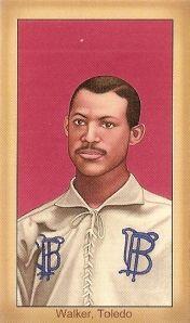 Fleet Walker, the first African American to play major league baseball.