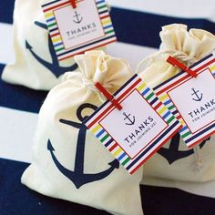 Nautical Favor bags @timelesstreasure.theaspenshops#anchor #nautical #favorbags #beach #beachwedding #partyfavor #ebgagement #engagementparty #reception #birthday #anniversary#bride #bridalshower