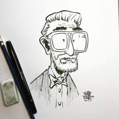 Happy birthday to one of my heroes. He made books that taught me to use my imagination and taught me how to draw and later in life, became a major part of my relationship with my oldest son and is the middle name of my youngest son. Drawing Cartoon Characters, Cartoon Sketches, Art Drawings Sketches, Illustration Sketches, Cartoon Styles, Character Illustration, Cartoon Art, Character Sketches, Character Design References