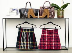 """Those skirts are so cute! Oh, and the fringed booties as well :-) """"I'm obsessed with mini skirts and have a zillion. </p> I just splurged on these Saint Laurent boots—they're so cute. </p> This is a gorgeous Prada alligator bag."""""""