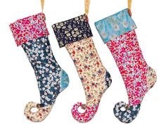 Make your own Liberty print stocking, tutorial of loveliness from Liberty!! yay, thanks so xox
