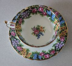 Stunning Paragon Tea Cup and Saucer Floral Garden w by Calessabay