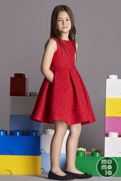 Clothes for Boys & Girls Little Girl Fashion, Kids Fashion, Little Girl Dresses, Girls Dresses, Vestidos Carolina Herrera, Kind Mode, Dress Patterns, Baby Dress, Cute Dresses