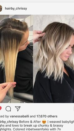 Here's Every Last Bit of Balayage Blonde Hair Color Inspiration You Need. balayage is a freehand painting technique, usually focusing on the top layer of hair, resulting in a more natural and dimensional approach to highlighting. Hair Color Balayage, Baylage Blonde, Balayage Bob Blonde, Balyage Short Hair, Blonde Hair On Brunettes, Blonde Ombre Short Hair, Blonde Highlights Short Hair, Winter Blonde Hair, Baby Highlights