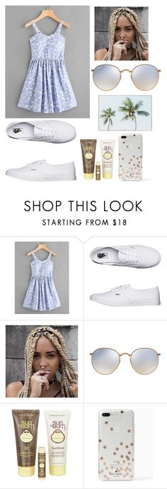 """Untitled #469"" by angela229 ❤ liked on Polyvore featuring Vans, Ray-Ban, Sun Bum and Kate Spade"