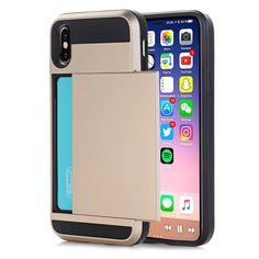 Shockproof iPhone X Slim Dual Layer Wallet Design w/Card Slot Phone Ca – SaviCat