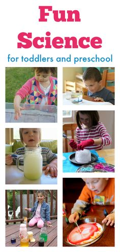 Fun science experiments for preschool and toddlers