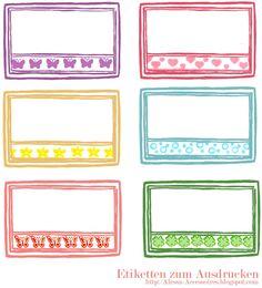 [freebie] Etiketten zum Ausdrucken Binder Organization, Filofax, Planner Stickers, Birthday Gifts, Diy And Crafts, Classroom, Printables, Stamp, Paper