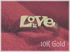 10K Gold - Diamond Love Ring - Size 6 1/2 - Promise First Love Ring - Love Knot - Anniversary Birthday - The Perfect Gift - FREE SHIPPING by FindMeTreasures on Etsy