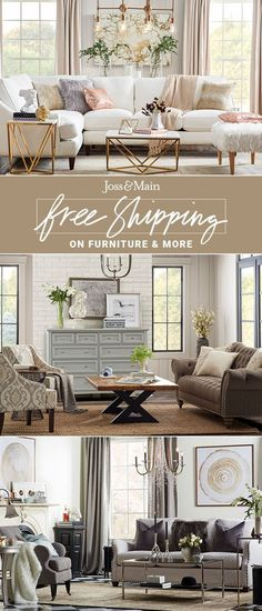 Make your living room a comfortable space where you love to gather together. Find sofas, cozy pillows & more picks for the living room! Sign up now at jossandmain.com.