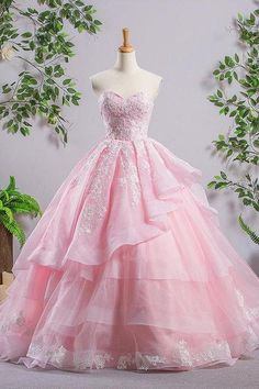 Sweetheart Pink A-line Lace Cheap Evening Prom Dresses, Sweet 16 Dresses, Quinceanera Dresses, Shop plus-sized prom dresses for curvy figures and plus-size party dresses. Ball gowns for prom in plus sizes and short plus-sized prom dresses for Cheap Evening Dresses, Elegant Dresses, Pretty Dresses, Formal Dresses, Sexy Dresses, Summer Dresses, Awesome Dresses, Casual Dresses, Long Dresses