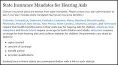 Does your state mandate hearing aid coverage for children?