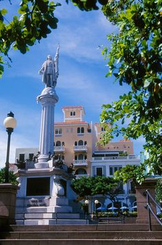 Old San Juan, Puerto Rico: Christopher Columbus monument in Plaza Colón. Photo by Greg Vaughn