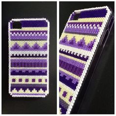 Hard case plastic cover decorated with mini Hama beads for Iphone 4/4s