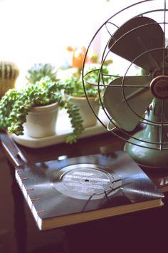 journal disque vinyle DIY
