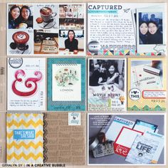 Project Life - love the inclusion of stamps #stamps #projectlife #mamaelephant