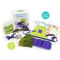 Forever Garden Kids Dig In Kit. Child size gardening kit.