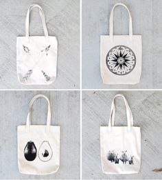 8d299a8edf1b Cute Screen Printed Tote Bags