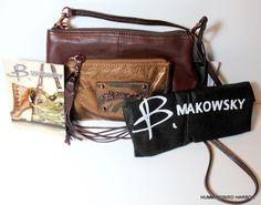 B Makowsky Rochelle Brandy Bronze Leather Crossbody Bag Removable Strap NWT #BMakowsky #CrossbodyShoulderBagClutchPurse