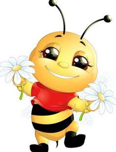 lovely cartoon bee set vectors 13