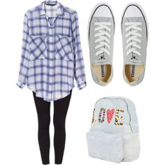 Casual outfits, cute outfits for school, pretty outfits, summer outfits, wi Converse Outfits, Legging Outfits, Winter Outfits, Spring Outfits For School, Preppy Outfits, Outfits For Teens, Summer Outfits, Grey Converse, Fashion Clothes