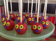 VERY HUNGRY CATERPILLAR BIRTHDAY/very-hungry-caterpillar-party-dessert-table-cakepops