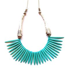 Sia Turquoise Necklace - like the way these are graduated.