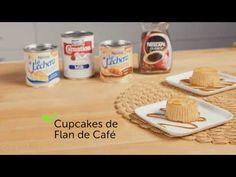 Estos ricos Cupcakes de Flan de Café tienen una combinación única de sabores. Te encantarán sus notas de café. Rocíalo con dulce de leche y sirve.