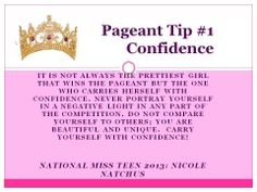 Great Tip from our National Miss Teen 2013 - Nicole Natchus