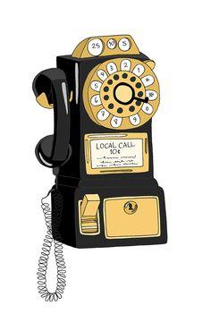 Vintage Telephone by Kristina Hultkrantz