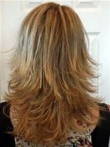 long layered haircuts back view | Medium Length Layered Shag Honey ...