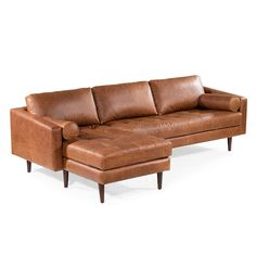 Napa Left Sectional Sofa in Cognac Tan – Poly & Bark Leather Sectional Sofas, Chaise Sofa, Sofa Bed, Recliner, Sofa Cognac, Genuine Leather Sofa, Modern Leather Sofa, Brown Leather, My Living Room