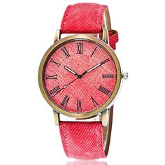 Womens Simple Casual Leather Strap Watch
