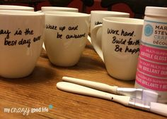 Sharpie And Glitter Coffee Mug Gift - Quotes from your friends' Pinterest Board, mug, Sharpie, Glitter - great personalized gift