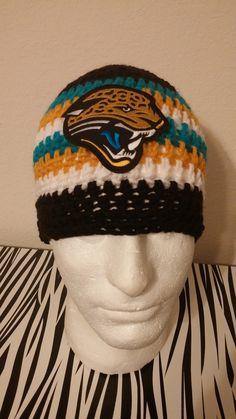 Jacksonville Jaguars Crochet Beanie