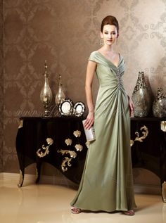 Mirella's Ladies Boutique ~ K158015 satin face chiffon gown