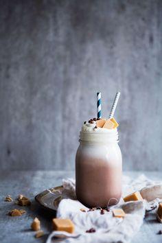 Texas Fudge Chocolate Milkshake (with sliced fudge and chocolate toffee sprinkles)