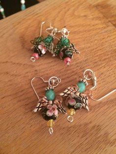 Angel Earrings with wire wings
