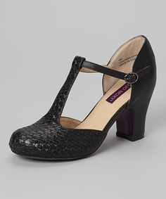 This Black Downton Leather D Orsay by MOJO MOXY is perfect!  zulilyfinds  Botas 10aaeb6447382