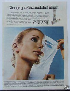 Vintage 1970s Cosmetics Advert Orlane Transparent Mask
