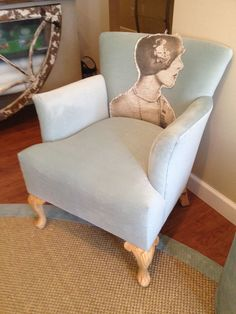 Gorgeous chair.  Simply stitched on.  @Emily Pearce
