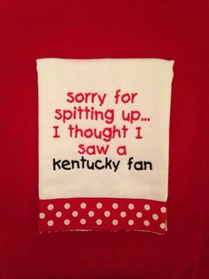 Personalized blanket for a baby gift theembroiderynest the louisville fan burp rag theembroiderynest negle Choice Image